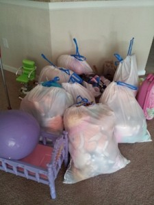 A child's bedroom purge