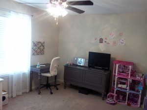 A clean room - desk and console storage